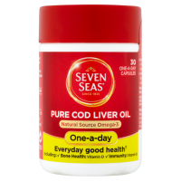 Seven Seas Pure Cod Liver Oil 30 One-a-Day Capsules
