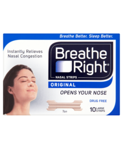 Breathe Right Nasal Strips Original Tan 10 Large Strips