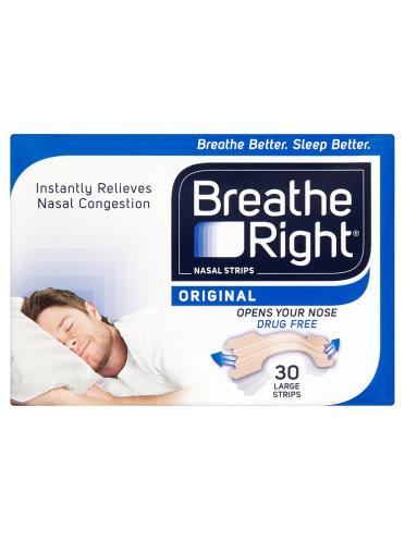Breathe Right Nasal Strips Original 30 Large Strips