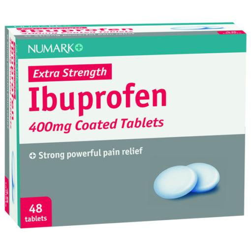 Numark Max Strength Ibuprofen 400mg Tablets