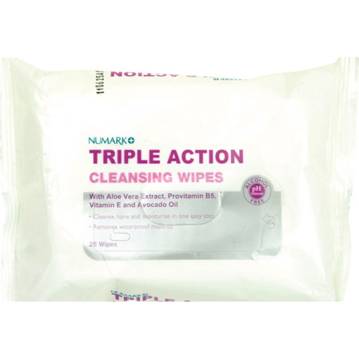 Numark Triple Action Cleansing Wipes