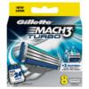 Gillette MACH3 Turbo Men's Razor Blades 8 Count