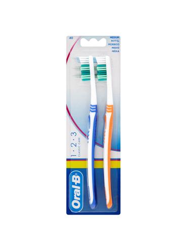 Oral-B 1-2-3 Classic Care 2 Medium Toothbrushes