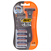 BIC Flex & Easy Handle + 4 Cartridges