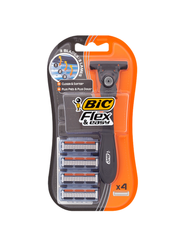 BIC Flex & Easy Handle + 4 Cartridges