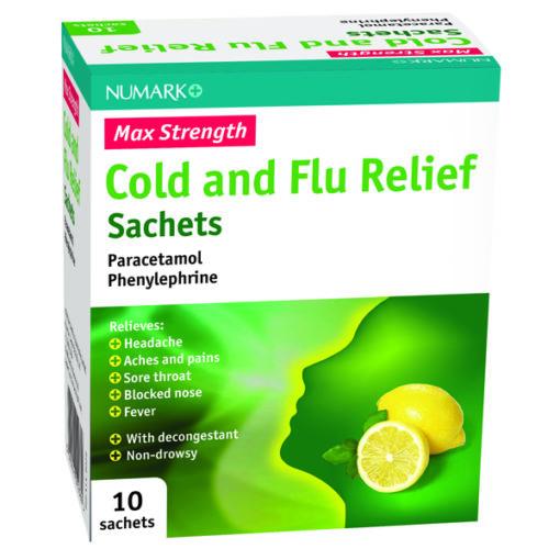 Numark Max Strength Cold & Flu Relief Sachets