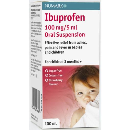 Numark Ibuprofen 100mg/5ml Suspension