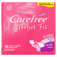 Carefree Perfect Fit Regular Size 18 Single Wrapped Pantyliners