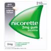 Nicorette Original Flavour Sugar Free Gum 2mg Nicotine 210 Pieces