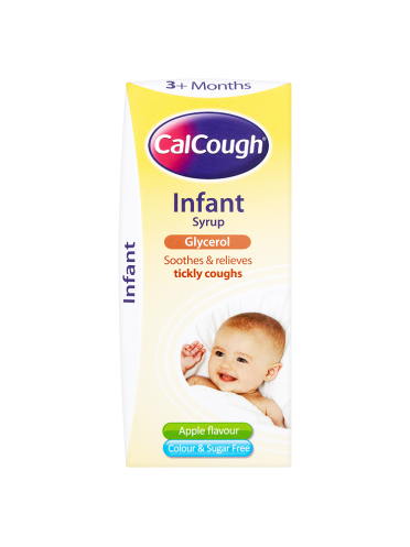 Calcough Infant Syrup Apple Flavour 3+ Months 125 ml