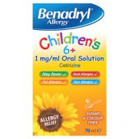 Benadryl Allergy Children's 6+ 1 mg/ml Oral Solution 70ml