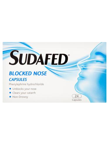 Sudafed Blocked Nose Capsules 24 Capsules