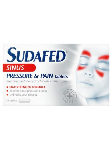 Sudafed Sinus Pressure & Pain Tablets 24 Tablets