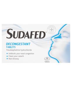Sudafed Decongestant Tablets 12 Tablets