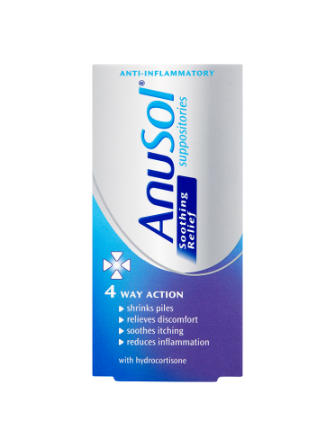 Anusol Soothing Relief Suppositories 12 Suppositories
