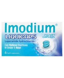 Imodium Liquicaps 2mg Soft Capsules 6 Soft Capsules