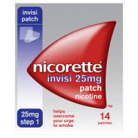 Nicorette Step 1 Invisi 25mg Patch Nicotine 14 Patches