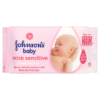 Johnson's Baby Extra Sensitive Wipes Fragrance Free 56 Wipes