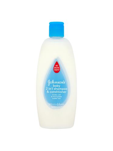 Johnson's Baby 2 in 1 Shampoo & Conditioner 500ml