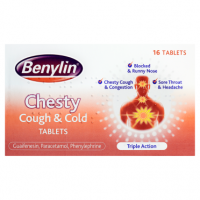 Benylin Chesty Cough & Cold Tablets 16 Tablets