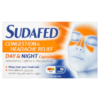 Sudafed Congestion Headache Relief Day & Night Capsules 16 Capsules