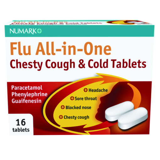 Numark Flu All-in-One Chesty Cough & Cold Tablets