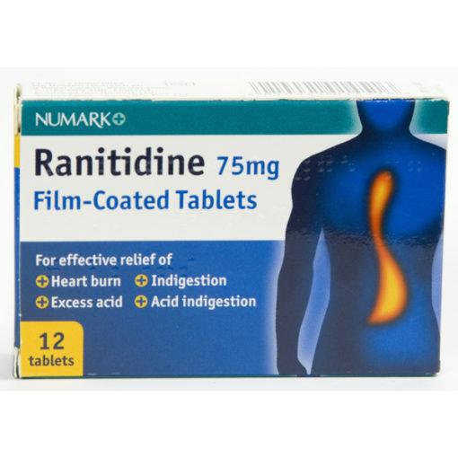 Numark Ranitidine 75mg Film-Coated Tablets
