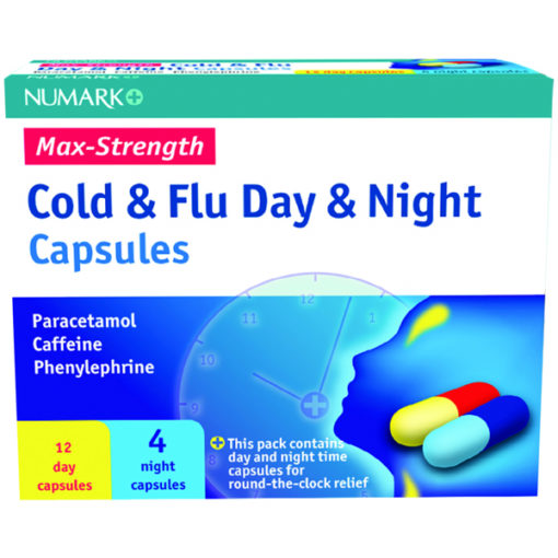 Numark Max Strength Cold & Flu Day & Night Capsules