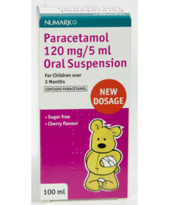 Numark Paracetamol 120mg/5ml Suspension