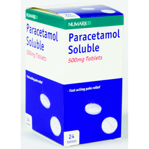 Numark Paracetamol 500mg Soluble Tablets