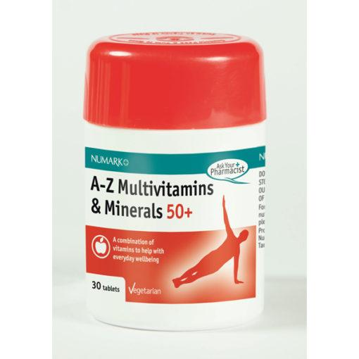 Multivitamins & Minerals A-Z 50+ Tablets