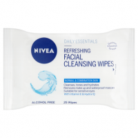 NIVEA Daily Essentials 25 Refreshing Facial Cleansing Wipes