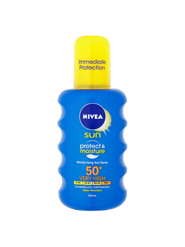 NIVEA SUN Protect & Moisture Moisturising Sun Spray 50+ Very High 200ml