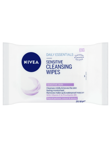 NIVEA Daily Essentials 25 Sensitive Cleansing Wipes