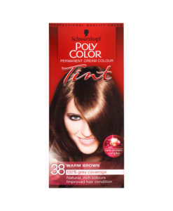 Schwarzkopf Poly Color Permanent Cream Colour Tint 38 Warm Brown