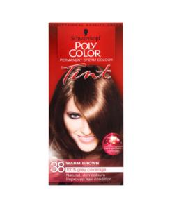 Schwarzkopf Poly Color Permanent Cream Colour Tint 38 Warm Brown