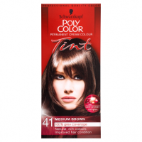Schwarzkopf Poly Color Permanent Cream Colour Tint 41 Medium Brown