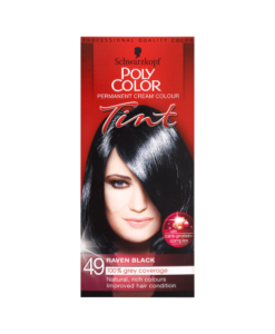 Schwarzkopf Poly Color Permanent Cream Colour Tint 49 Raven Black