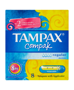 Tampax Compak Regular 8 Tampons with Applicator