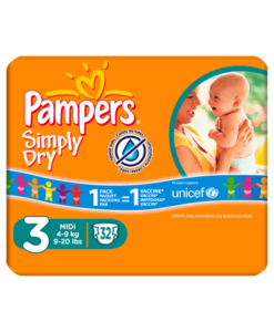 Pampers Simply Dry Size 3 Carry Pack 32 Nappies Per Pack