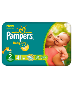 Pampers Nappies Baby Dry Size 2 Mini 3-6kg/6-13lbs 41 Nappies