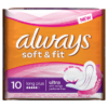 Always Ultra Soft & Fit Long Plus Sanitary Towels x 10