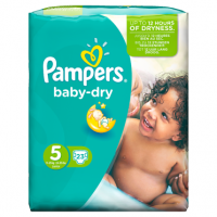 Pampers Baby Dry Size 5 Carry Pack 23 Nappies