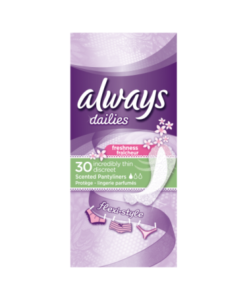 Always Dailies Pantyliners Incredibly Thin Flexistyle Freshness With Fresh Scent 30 Count