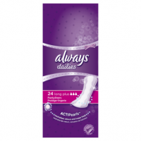 Always Dailies Pantyliners Long Plus 24 Count