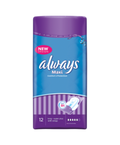 Always Maxi Sanitary Towels Long Plus With Wings 12 Pads