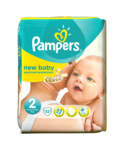 Pampers New Baby Size 2 (Mini) Carry Pack 32 Nappies