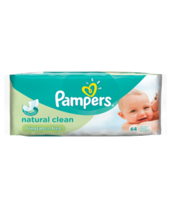 Pampers Baby Wipes Natural Clean Single Pack 64 Wipes