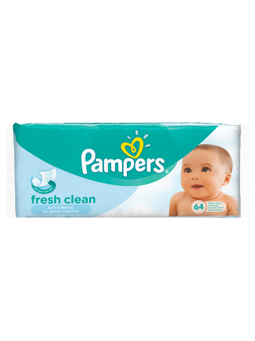 Pampers Baby Wipes Fresh Clean Single Pack 64 Wipes