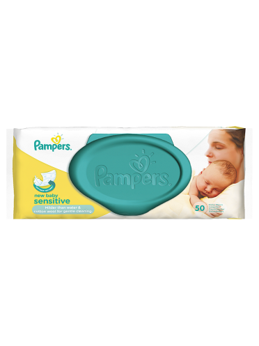 Pampers Baby Wipes New Baby Sensitive Single Pack 50 Wipes